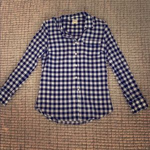 """J Crew Checked Button Down """"Perfect"""" Shirt"""